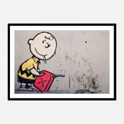 Charlie Brown Banksy Wall Art