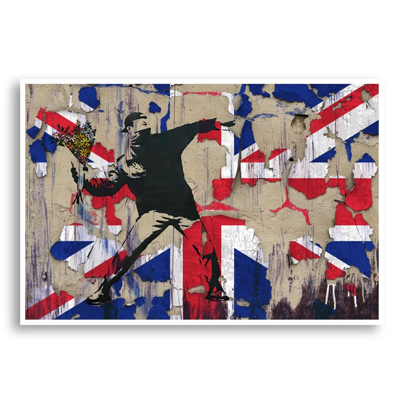 Banksy Flame Thrower Union Jack Wall Art