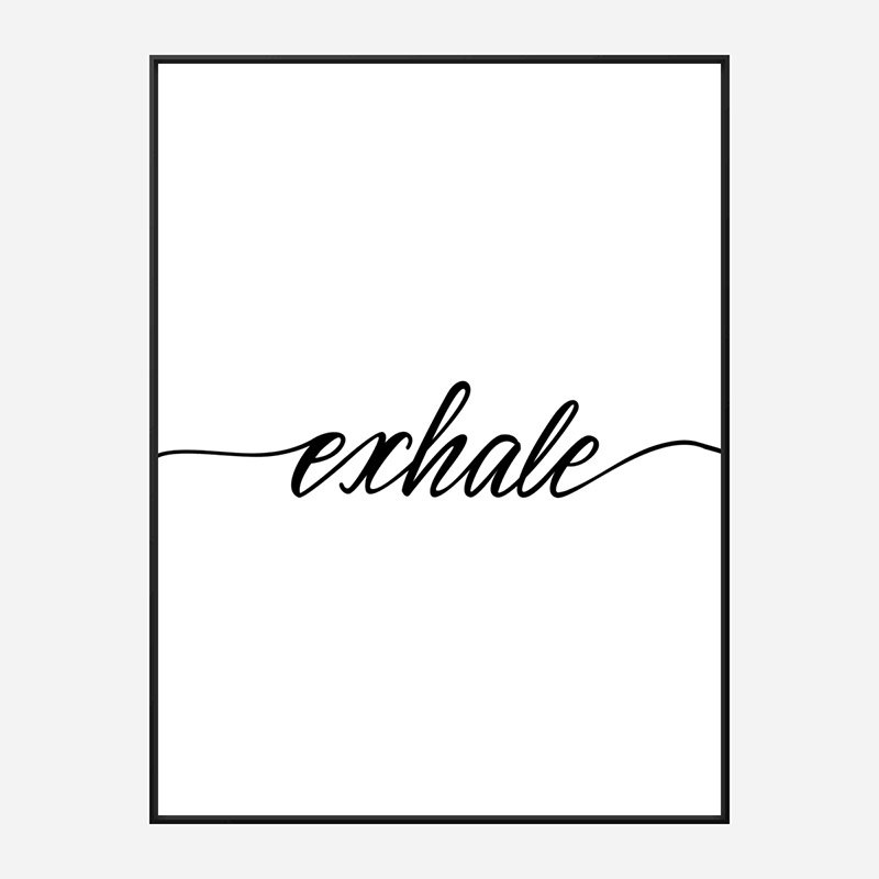 Exhale Typography Wall Art