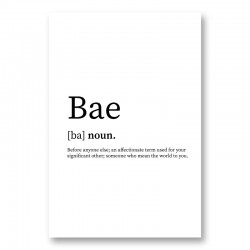 BAE Definition Typography Wall Art