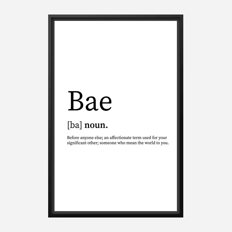 BAE Definition Typography Wall Art