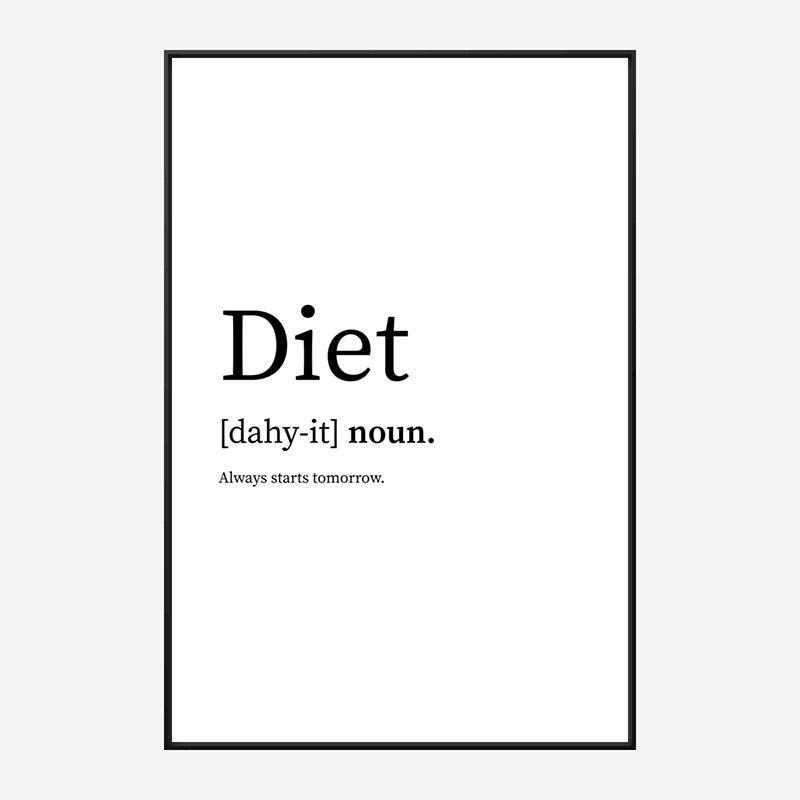 Diet Definition Typography Wall Art