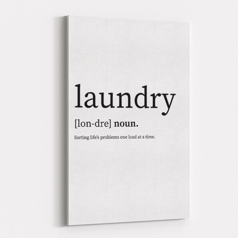 Laundry Definition Typography Wall Art