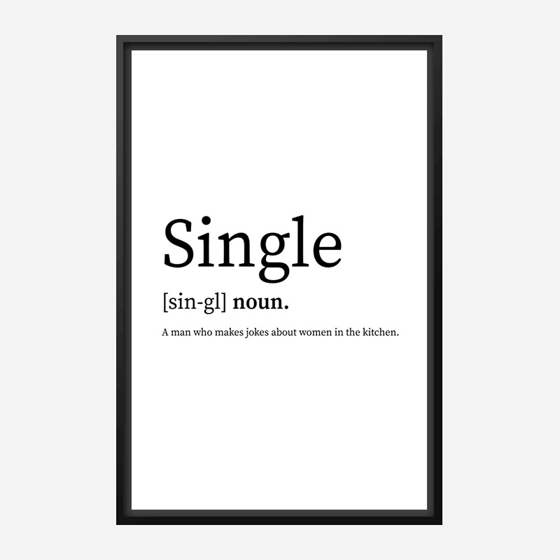 Single Definition Typography Wall Art