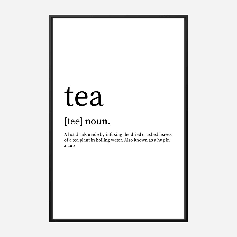 Tea Definition Typography Wall Art