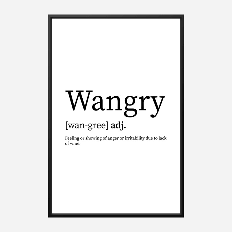 Wangry Definition Typography Wall Art