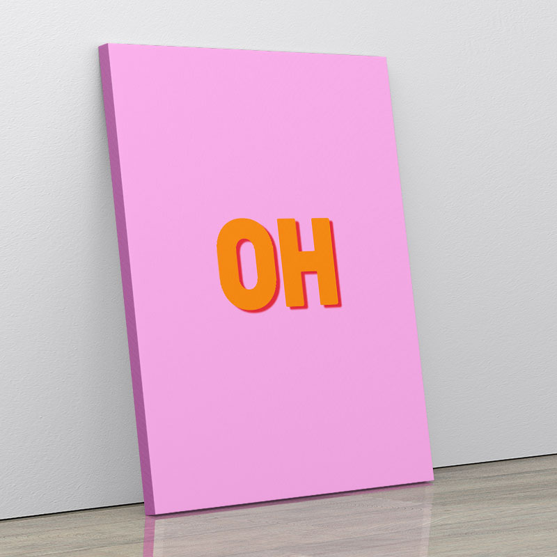 OH Typography Wall Art