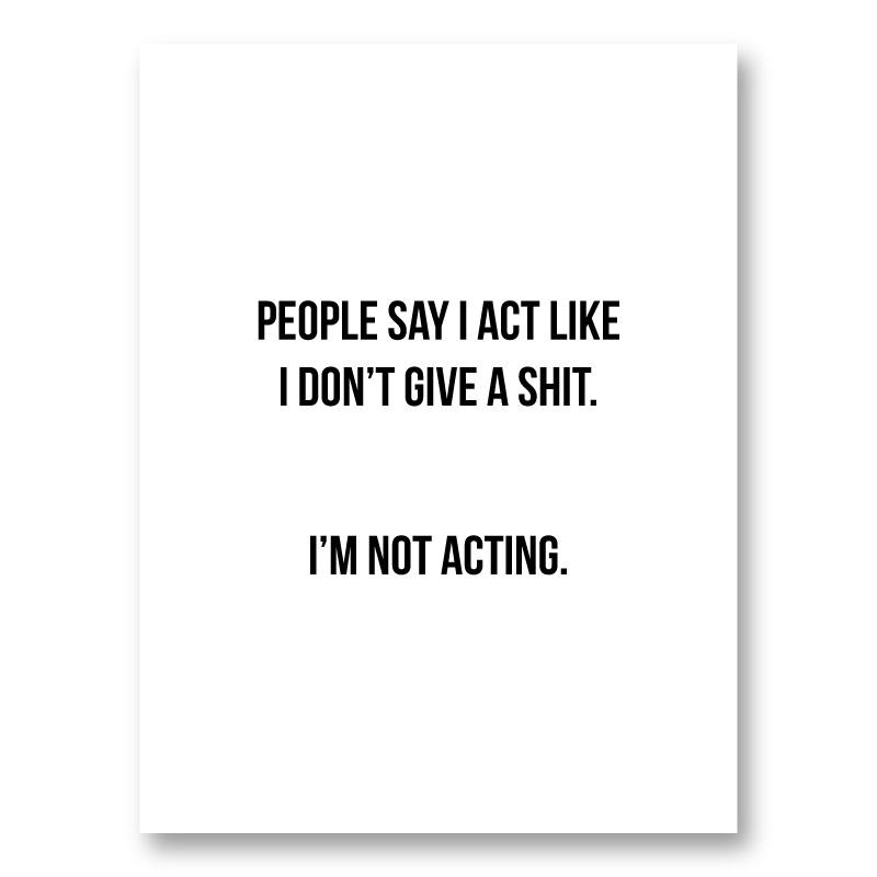 People Say Typography Art Print