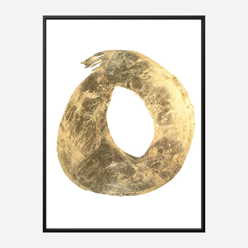 Golden O Typography Art Print