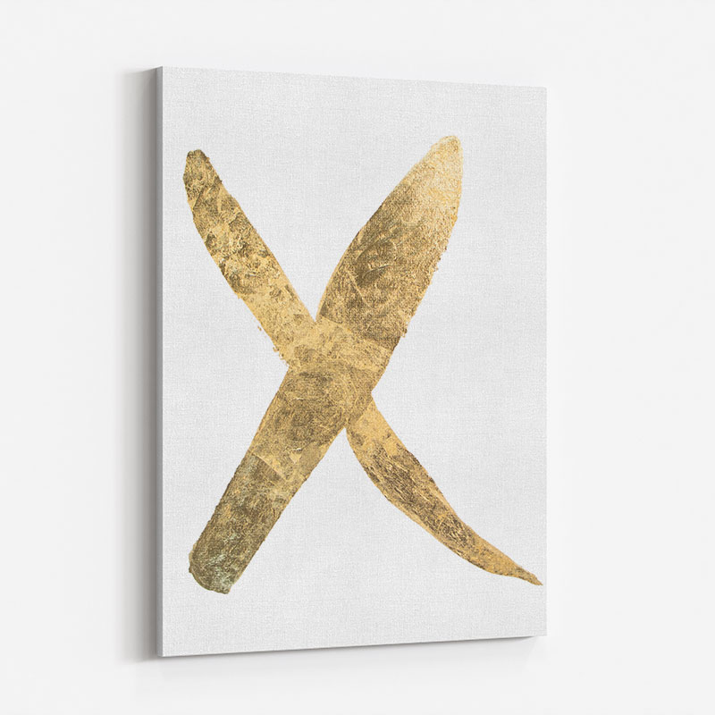 Golden X Typography Art Print