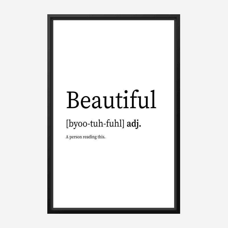 Beautiful Definition Typography Wall Art