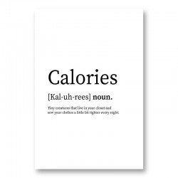 Calories Definition Typography Wall Art