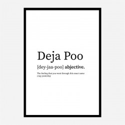 Deja Poo Definition Typography Wall Art