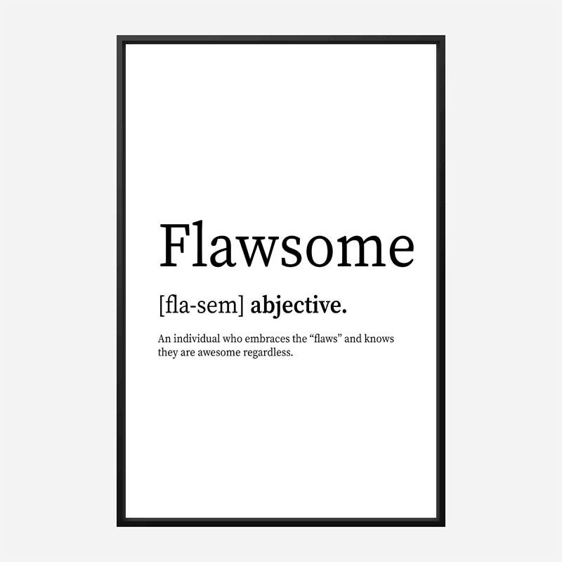 Flawsome Definition Typography Wall Art