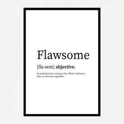 Flawsome Definition Typography Wall Art
