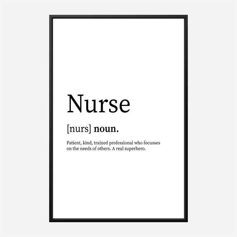 Nurse Definition Typography Wall Art