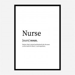 Nurse Definition Typography Wall Art