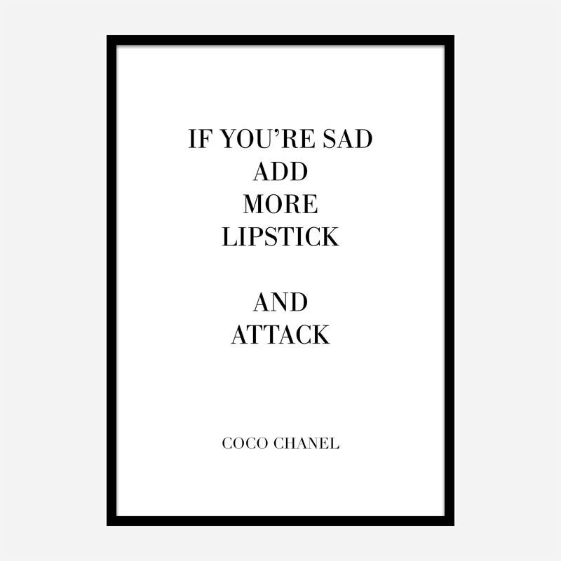 Coco Chanel Fashion has two purposes Quote Art Print