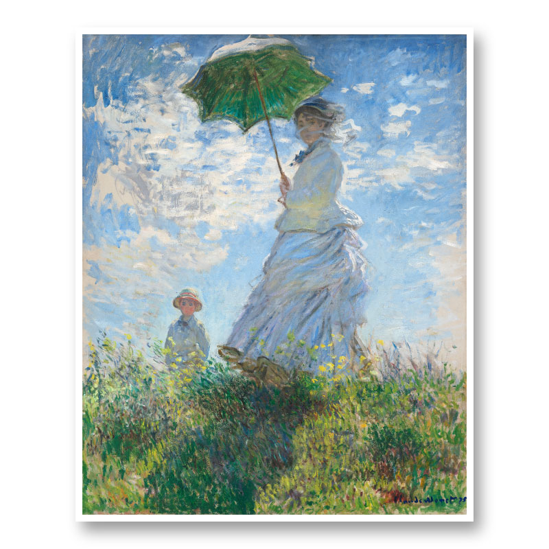 Woman With A Parasol By Claude Monet Art Print